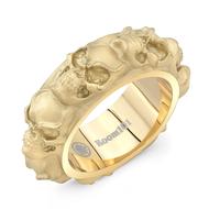 Skull Gold Vermeil