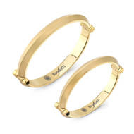 Gold Plated Blade Bangle