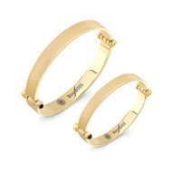 Gold Plated Minimal Bangle