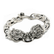 "Sterling Silver ""Bully"" Bulldog Bracelet"