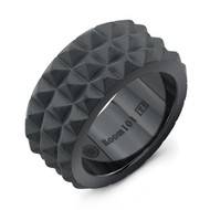Multi Spike Band Titanium Ring