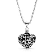 Filigree heart pendants