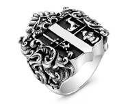 Custom Sterling Silver Family Crest Ring by Commission