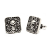 Stainless Steel Skull Frame Cuff Links