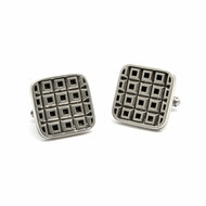 Stainless Steel Tank Checker Cuff Links