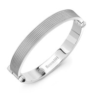 Matte Finish Flat Striped Bangle