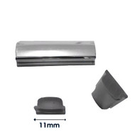 CHROME INSERT FORD ESCORT MK1 (PER METRE) (flat back 11mm wide)