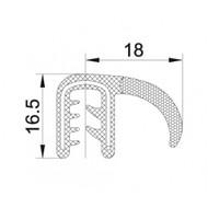 EDGE TRIM PANEL with FLAP (BLACK) 50M ROLL (panel 2-3mm)