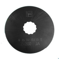 FEIN SuperCut SAW BLADE 80mm Dia HSS with fine teeth for precise cutting of approx. 1mm metal sheet