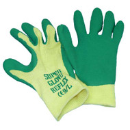 SUPER GRIP LATEX COATED COTTON GLOVES LARGE
