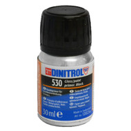 DINITROL 530 WINDSCREEN FITTING BONDING ADHESIVE GLUE 30ml BLACK PRIMER GLASS