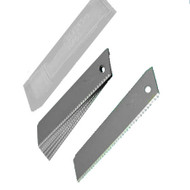10 x SHARK SERRATED SOLID BLADES HEAVY DUTY (0.6 x18mm) IN DISPENSER CRAFT TRIM