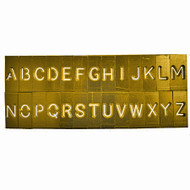 SAFEGARD 4mm HIGH LETTER STENCIL SET ' A - Z '