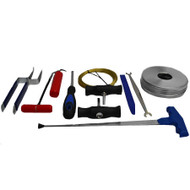 WINDSCREEN REMOVAL KIT 9 PIECE GLUE TOOL BONDED GLASS WIRE CUT OUT