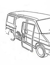 VW TRANSPORTER T4 (90-04) BODY SIDE DOOR SEAL FOR OPENING DOOR