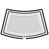 RENAULT 5 1985 - 1996 WINDSCREEN MOULDING KIT 4 Piece (inc Pinchweld trim)
