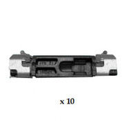 BMW 5 SERIES E60 2003 - 2010 WINDSCREEN SIDE MOULDING CLIPS PACK OF 10
