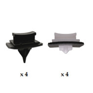 FORD TRANSIT 2000 - 2014 WINDSCREEN SIDE MOULDING CLIP KIT - PACK OF 8