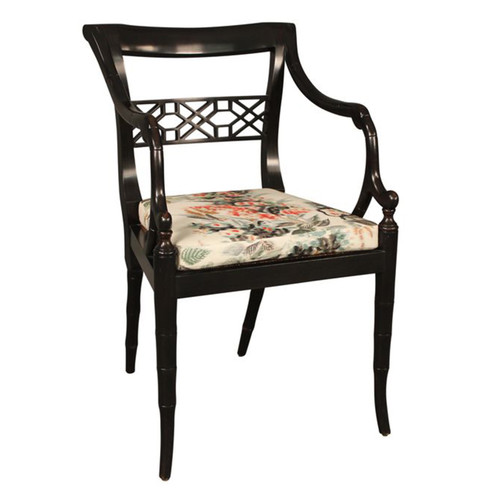 Regency Fret Chair - Arm w/Cushion #7