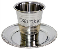 Stainless Steel Kiddush Cup Set