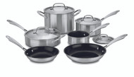 Cuisinart Green Gourmet Tri-ply Stainless - 10 Piece Set