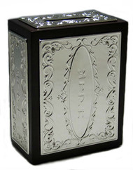 Wood & Silver Plated Charity Box