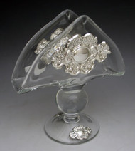 Crystal & Sterling Silver Napkin Holder 800112