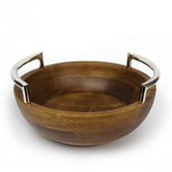Quest Yacht Wooden Round Bowl