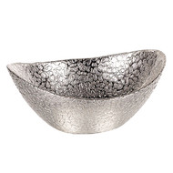 Badash Snakeskin Silver Oval Bowl