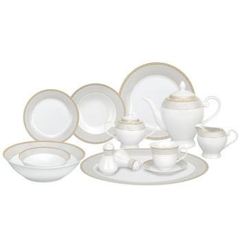 Lorenzo Alina Gold 57 Pc. Dinnerware Set