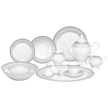 Lorenzo Alina Silver 57 Pc. Dinnerware Set