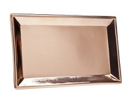 Godinger Hammered Rectangular Copper Tray