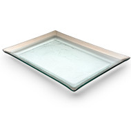 Annie Glass Tray- Platinum