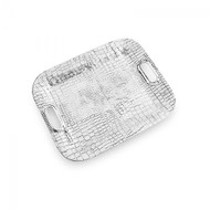 Beatriz Ball Croc Rectangular Tray with Handles