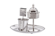 Classic Touch Hammered Havdalah Set