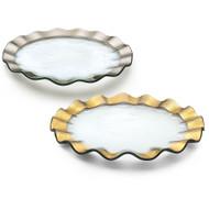 Annie Glass Ruffle Buffet Platter