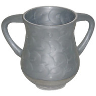 Unbreakable Aluminum  Washing Cup- Silver Marble
