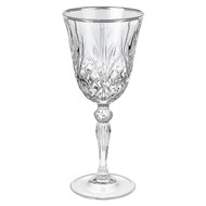 Reagan Wine Glass with Silver Band (Set of 4) by Lorren Home Trends