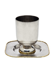 Godinger Golden Frost Kiddush Cup w/ Tray