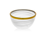 Godinger White/ Gold Alabaster Bowl