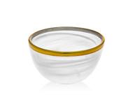 Godinger White/ Gold Alabaster Bowl