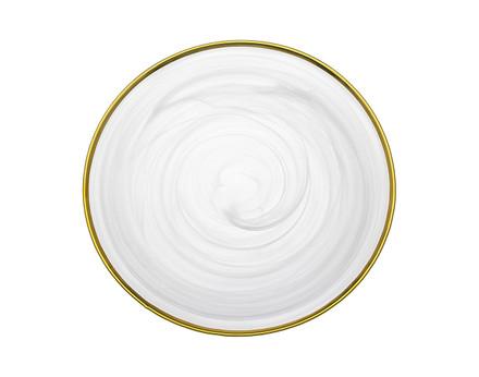 Godinger White/ Gold Alabaster Charger