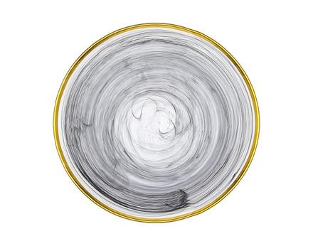 Godinger Black/ Gold Alabaster Charger