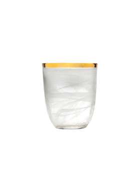 Godinger White/ Gold Alabaster Glass