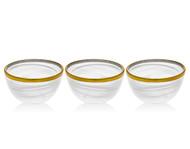 Godinger White/ Gold Bowl (Set of 3)