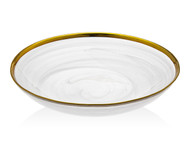 "Godinger White/ Gold Alabaster 8.5"" Bowl"