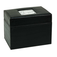 Initial Gourmet Recipe File Box