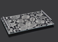 Metalace White Lace Challah Board w/ Handles