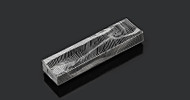 Metalace Lines Mezuzah (Black)