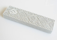 Metalace Magen David Mezuzah (White)